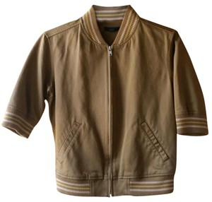 Gap Varsity Bomber Short Sleeves Brown Jacket