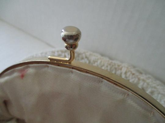 Other Wedding Formal Dressy Beaded Chain Strap Creamy White Clutch