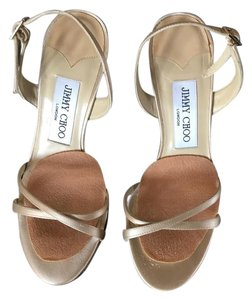 Jimmy Choo Gold Satin Formal