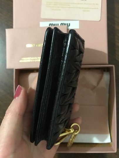 Miu Miu MIU-MIU-Matelasse-Card-Case-Nero-Pre-owned-With-Authentic-Card-Box