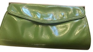 Ann Taylor Purse Patent Leather green Clutch