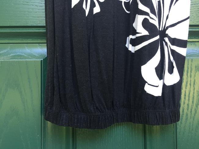 United Colors of Benetton short dress Black and White Bubble Bubble Hem Floral Soft on Tradesy