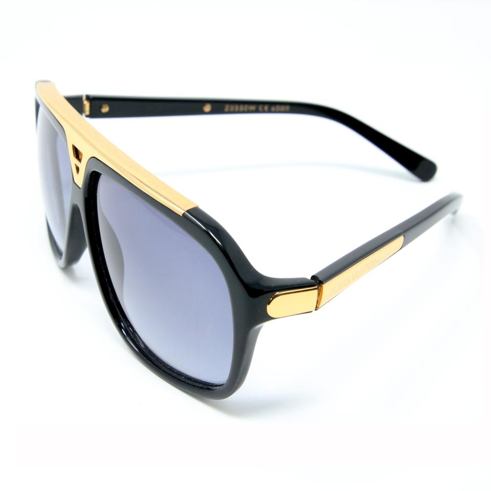 5f37e72fa676 Mens Black And Gold Louis Vuitton Sunglasses