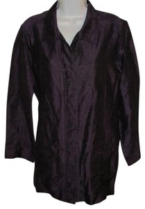 Chico's Silk Dupioni Purple Jacket