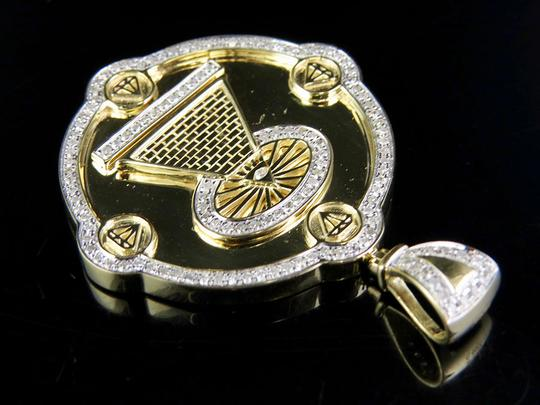Other 10K Yellow Gold Real Diamond Illuminati All Seeing Eye Pendant 7/10 Ct