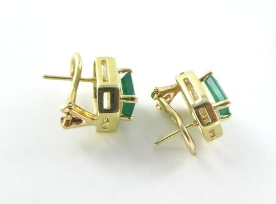 Other 14KT SOLID YELLOW GOLD EARRINGS + RING EMERALD DIAMOND SET LOT FINE JEWELRY BAND