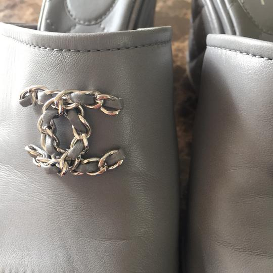 Chanel silver or gray Sandals