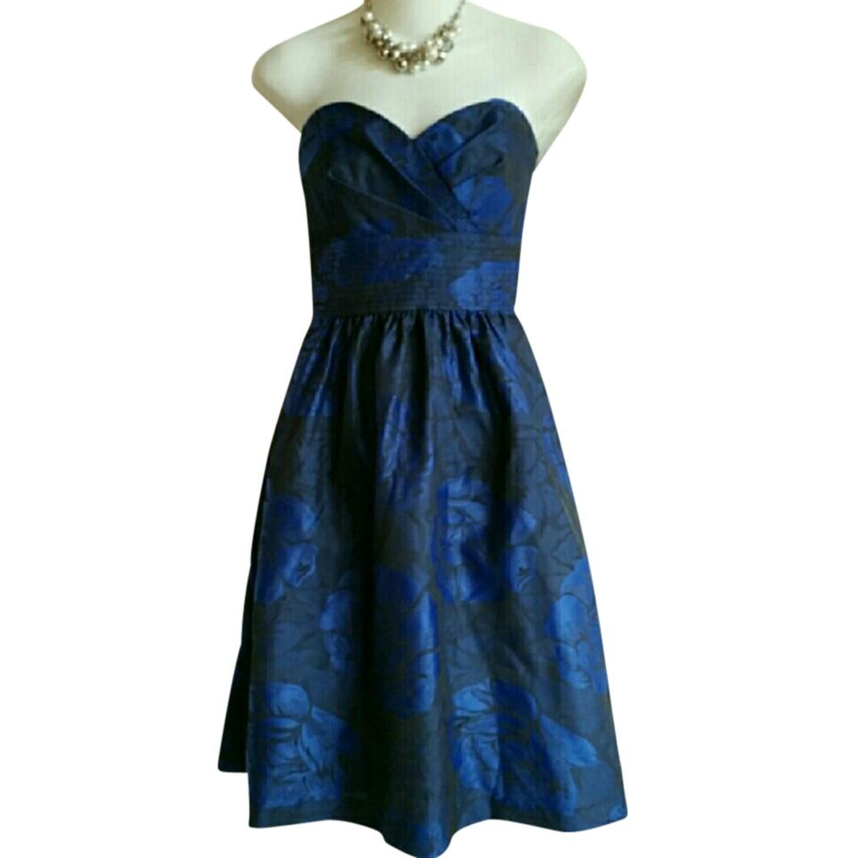 Alfred Sung Blue Strapless Mid-length Cocktail Dress Size 00 (XXS ...