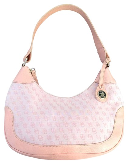 Preload https://item1.tradesy.com/images/dooney-and-bourke-signature-salmon-pink-canvas-leather-hobo-bag-21565700-0-2.jpg?width=440&height=440
