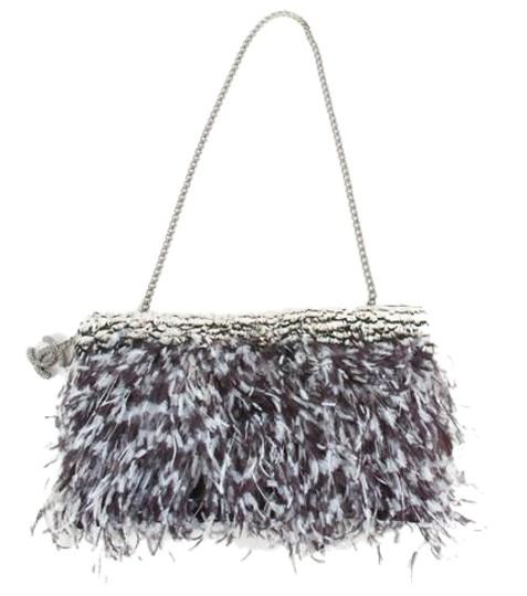 Preload https://item5.tradesy.com/images/chanel-purse-grey-black-white-satin-and-feathers-shoulder-bag-21565824-0-2.jpg?width=440&height=440