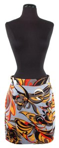 Emilio Pucci Skirt Grey Orange Black Yellow