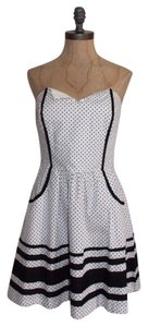 2b bebe Polka Dot Fit And Flare Night Out Dress