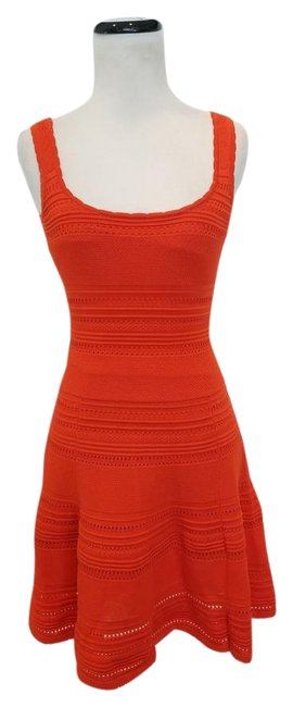 Item - Orange Alberta Knit Short Cocktail Dress Size 4 (S)