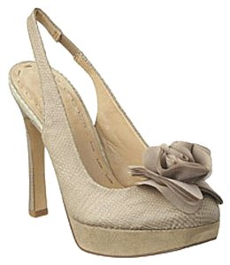Nine West taupe Platforms