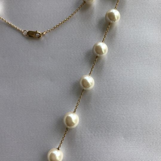 CRISLU White/Gold Pearl And Necklace