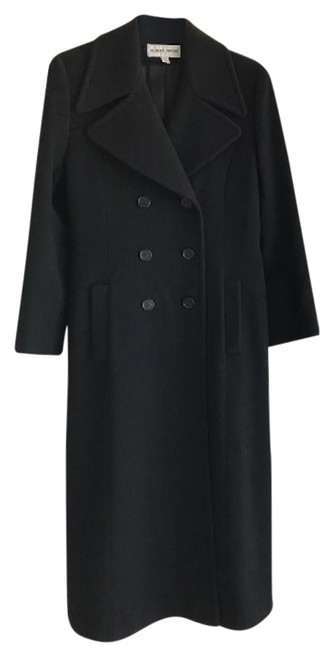 Preload https://img-static.tradesy.com/item/21565978/albert-nipon-black-coat-size-4-s-0-2-650-650.jpg
