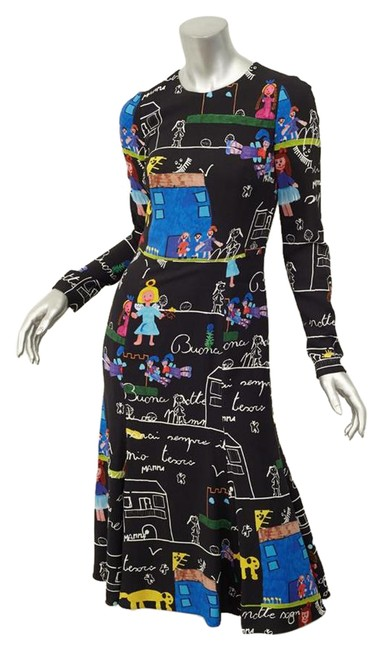 Preload https://item1.tradesy.com/images/dolce-and-gabbana-2015-runway-mamma-children-s-drawing-black-midi-mid-length-short-casual-dress-size-21565980-0-2.jpg?width=400&height=650