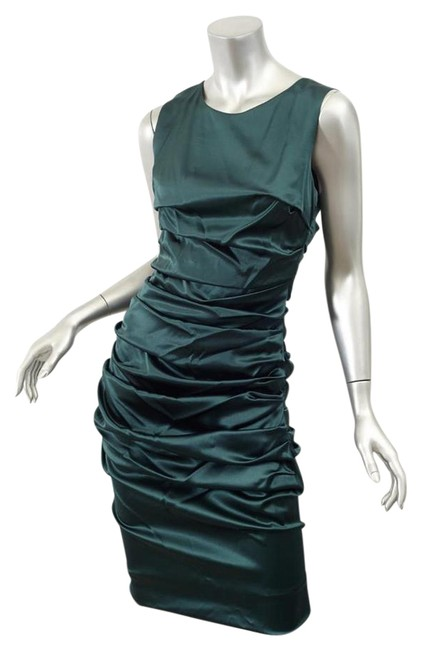 Preload https://item1.tradesy.com/images/dolce-and-gabbana-green-silk-satin-ruched-draped-mid-length-cocktail-dress-size-8-m-21566065-0-2.jpg?width=400&height=650