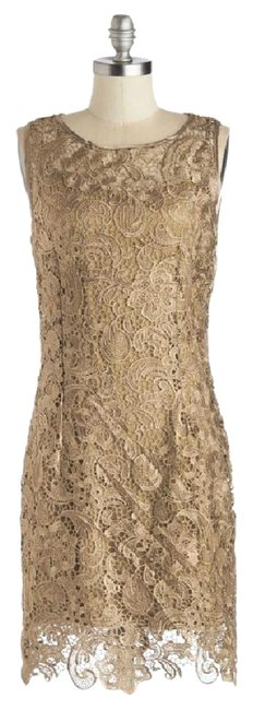 Preload https://img-static.tradesy.com/item/21566144/modcloth-gold-sweet-aperitif-in-by-fit-2-fit-mid-length-cocktail-dress-size-4-s-0-2-650-650.jpg