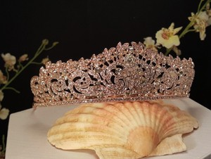 Rose Gold Plated Austrian Crystals/ Sweet 16 Style Tiara
