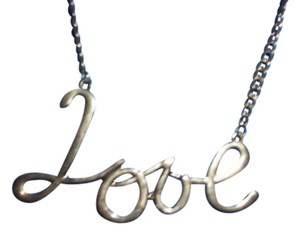 UNKNOWN GOLDTONE 16IN LOVE NECKLACE