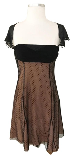 Item - Pink Black Tulle Way Removable Cape Short Cocktail Dress Size 2 (XS)