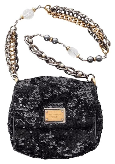 Preload https://item1.tradesy.com/images/dolce-and-gabbana-black-sequinleather-trim-beaded-chain-strap-small-evening-clutch-21566300-0-2.jpg?width=440&height=440