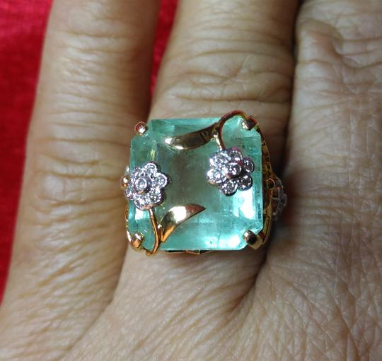 Other SALE*ESTATE 12.84CT NATURAL COLOMBIAN EMERALD&DIAMOND 22K GOLD RIN