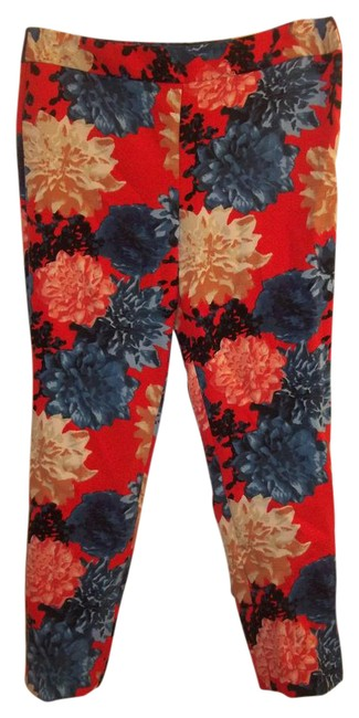 Talbots Stretchy Petite Floral Ankle Bright Pants