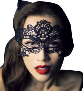 Avatar Imports BLACK VENETIAN LACE MASK