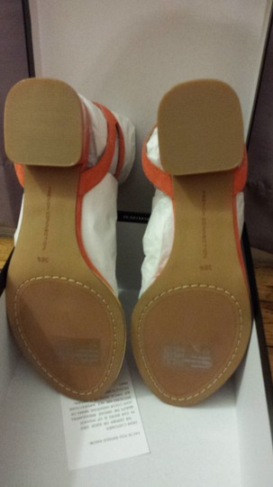 French Connection Suede Orange / Gold accent Sandals