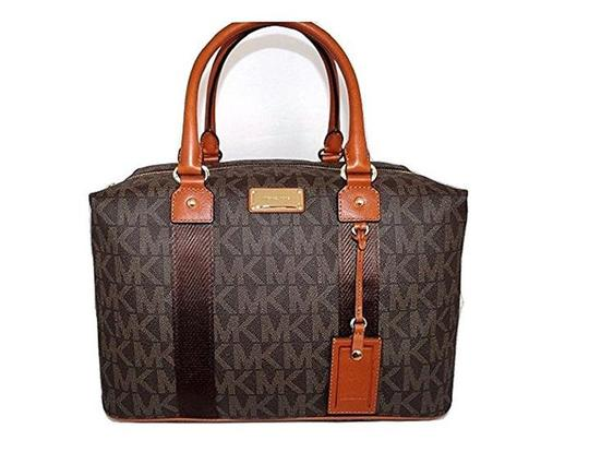 Michael Kors Mk Weekenders Duffle Monogram Pvc Brown Travel Bag