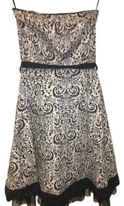 Ruby Rox short dress Black and White Tulle Printed Summer Party Strapless on Tradesy
