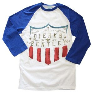Dierks Bentley The Treasured Hippie Music Boho Band Memorabilia T Shirt White
