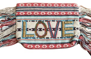ale by alessandra tan/peach/turquoise Clutch
