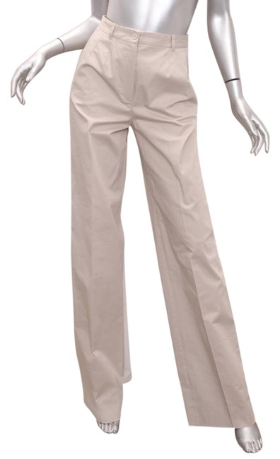 Preload https://img-static.tradesy.com/item/21566923/dolce-and-gabbana-khaki-cotton-wide-leg-trousers-straight-leg-pants-size-2-xs-26-0-2-650-650.jpg