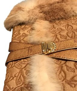 Baby Phat brown white fur Boots