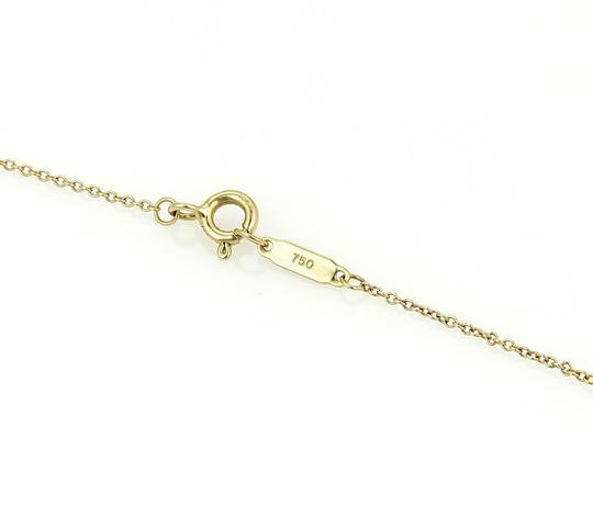 Tiffany & Co. 18k Yellow Gold Gift Box Pendant & Chain Necklace