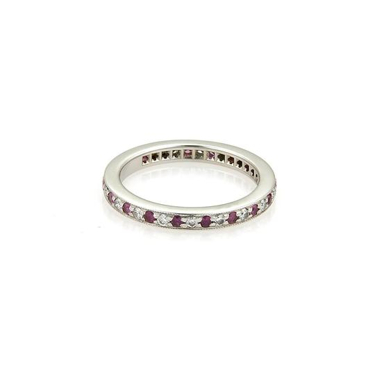 Preload https://item1.tradesy.com/images/tiffany-and-co-pink-white-diamonds-sapphire-platinum-milgrain-eternity-band-size-5-ring-21566980-0-0.jpg?width=440&height=440