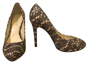 Ralph Lauren Snakeskin Black and Cream Pumps