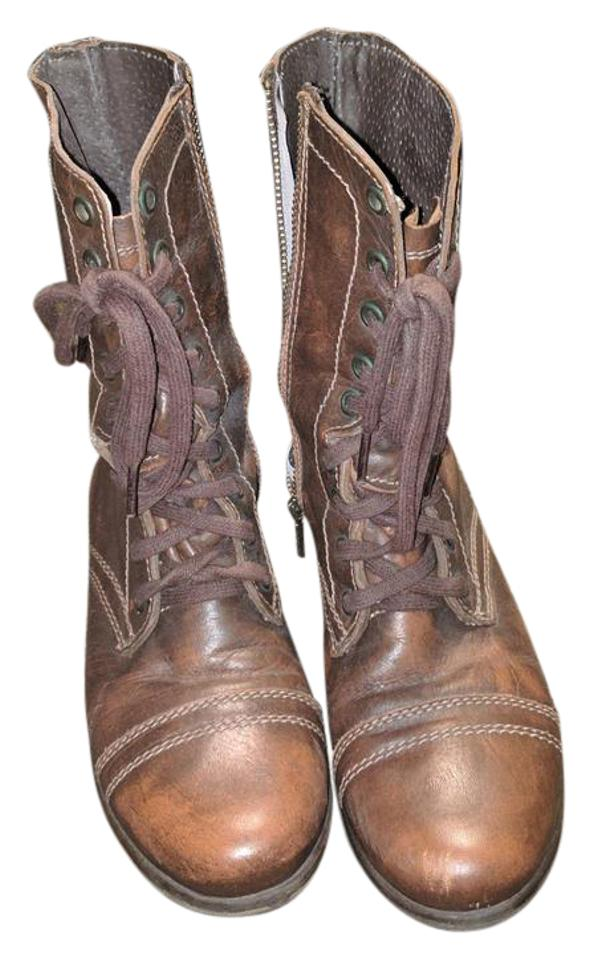 lady Steve Troopa Madden Chestnut Troopa Steve Boots/Booties Call first 45eaca