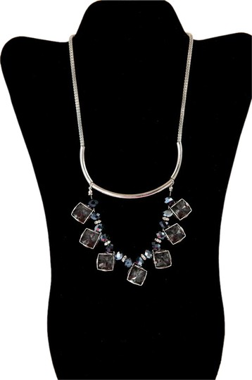 Preload https://item5.tradesy.com/images/silver-tone-and-clear-synthetic-stone-black-fantasy-by-necklace-21567254-0-2.jpg?width=440&height=440