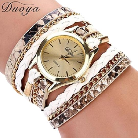 Preload https://item4.tradesy.com/images/multi-color-wrap-around-white-wrist-bracelet-style-free-shipping-watch-21567258-0-4.jpg?width=440&height=440
