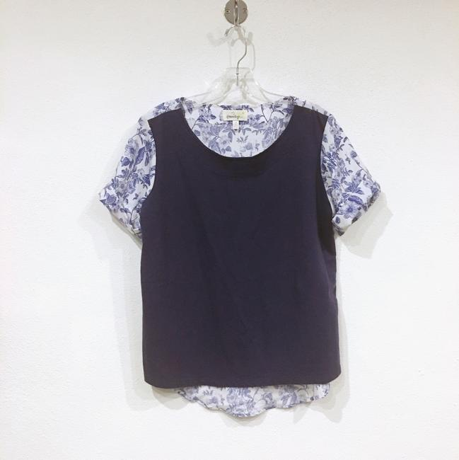 Anthropologie Top Blue, White