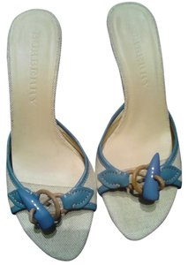 Burberry Vintage Blue & Cream Sandals