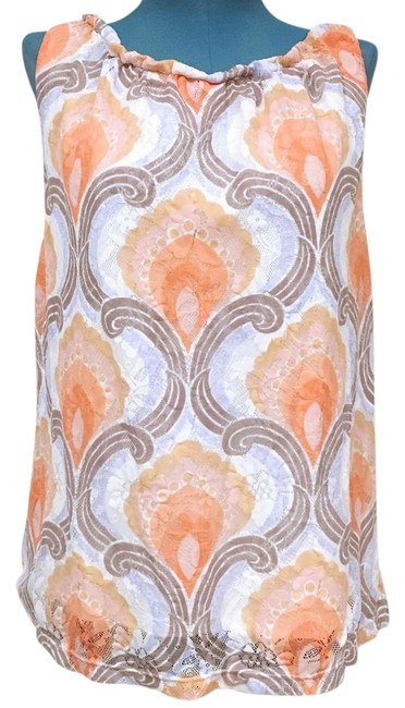 Preload https://img-static.tradesy.com/item/21567338/anthropologie-orange-pink-blue-gray-white-ric-rac-lace-tank-topcami-size-6-s-0-2-650-650.jpg