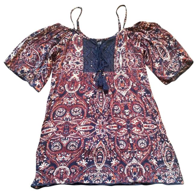 Preload https://img-static.tradesy.com/item/21567347/angie-navy-blue-paisley-cold-shoulder-small-short-casual-dress-size-4-s-0-2-650-650.jpg