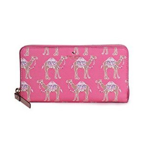 Kate Spade Kate Spade 'things up Camel' Lacey wallet in pink NWT