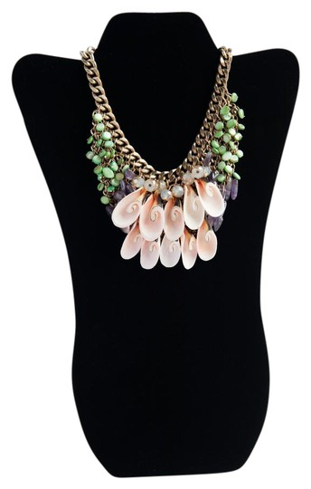 Preload https://item3.tradesy.com/images/gold-tone-pink-and-green-love-beach-by-necklace-21567372-0-2.jpg?width=440&height=440