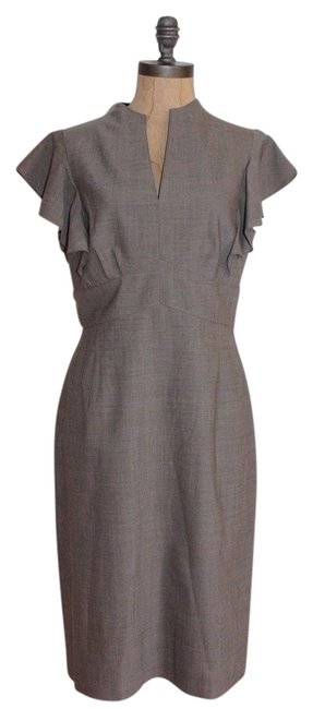 Preload https://item1.tradesy.com/images/tahari-taupe-mid-length-workoffice-dress-size-6-s-21567430-0-2.jpg?width=400&height=650
